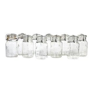 Large Kitchen Glass Canning Jars, Set of 10 For Sale