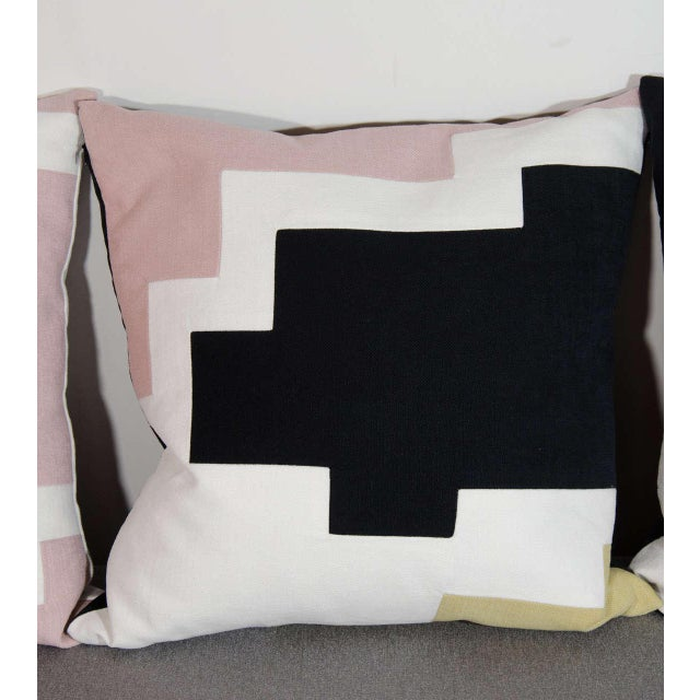 Architectural Italian Linen Throw Pillows by Arguello Casa For Sale - Image 4 of 7