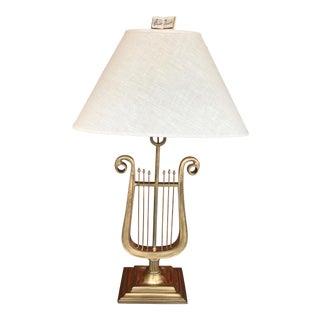 Vintage Chapman Music Harp Lamp For Sale