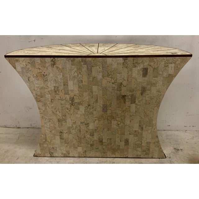 Maitland-Smith Tasselated Console and Mirror For Sale In Atlanta - Image 6 of 9
