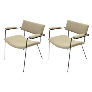 1960s Italian Iron Armchairs-A Pair For Sale