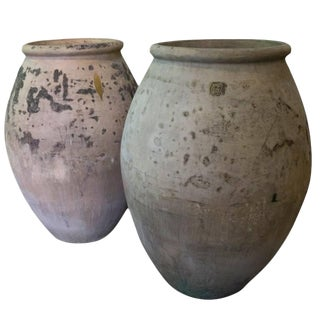 Antique French Terracotta Biot Jars, Circa 1910 - a Pair For Sale