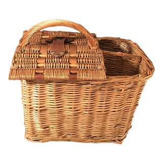 Vintage Natural Wicker Picnic Basket
