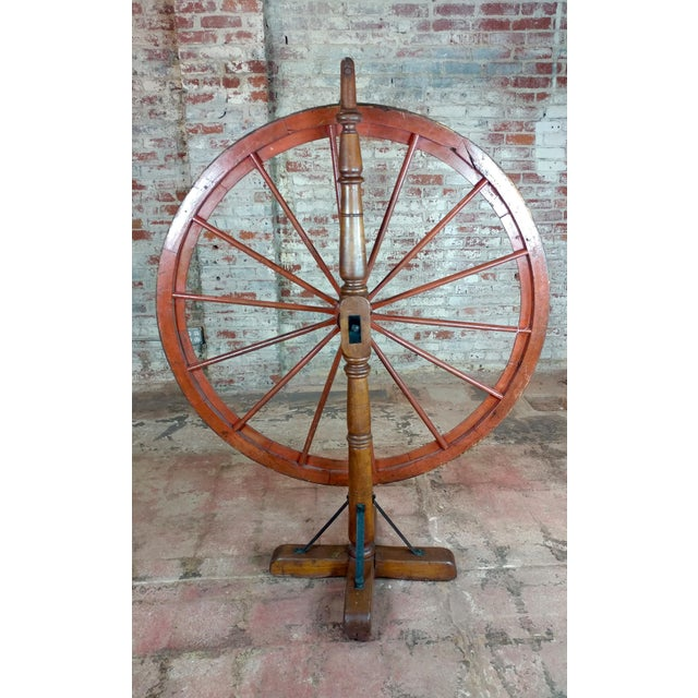 Wood 19th century Large Saloon Gaming spinning wheel of fortune For Sale - Image 7 of 12