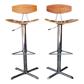 Mid-Century Modern Barstools - a Pair For Sale