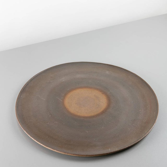 Remarkable stoneware centerpiece by Nanni Valentini for Ceramica Arcore. The set is composed by the large thin bowl and...