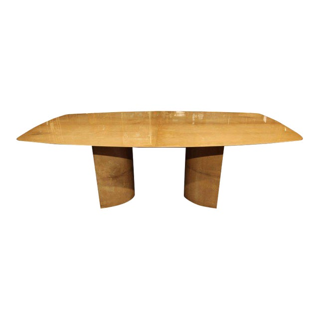 Aldo Tura Lacquered Goatskin Dining Table With Knife-edge Top - Image 1 of 11