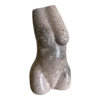 Vintage Carved Stone Female Torso