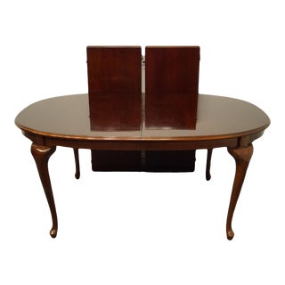 """Bernhardt Furniture Traditional Solid Cherry 100"""" Dining Table For Sale"""