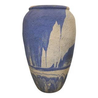Vintage Periwinkle Pottery Vase For Sale