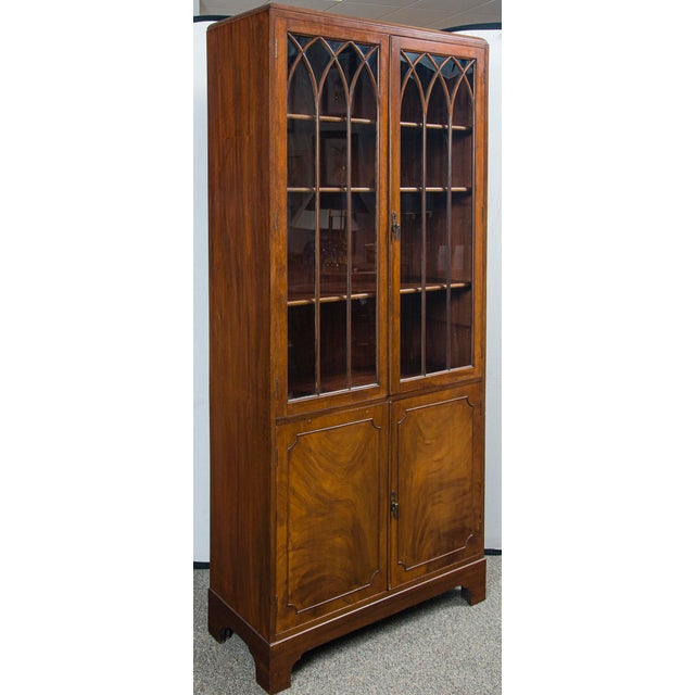 1940s English Mahogany Display Cabinet For Sale - Image 5 of 10