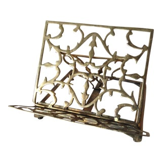 Brass Adjustable Book Stand For Sale
