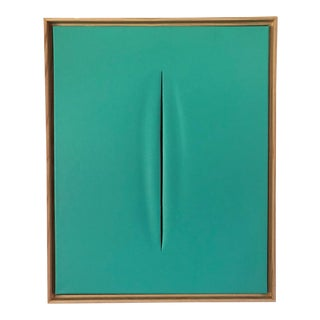 Tiffany Blue Modern Art Painting by Tony Curry For Sale