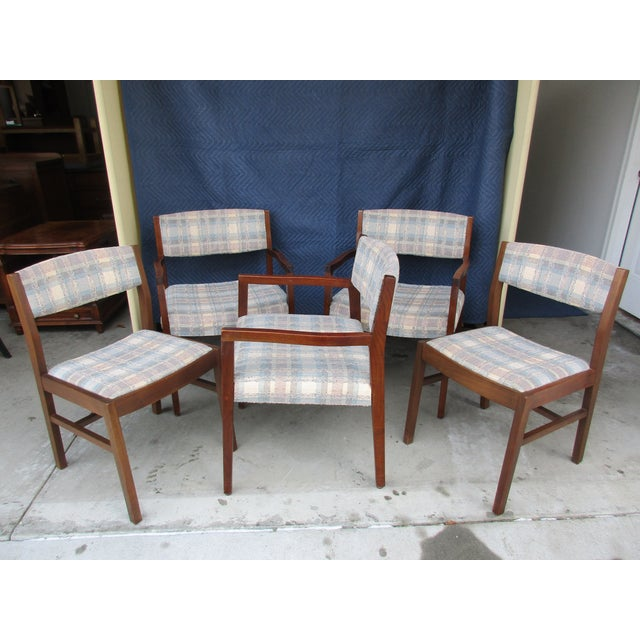 Risom Marble Armchairs and Side Chairs -Set of Five For Sale - Image 11 of 11