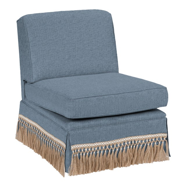 Traditional Casa Cosima Skirted Slipper Chair, Cats Eye For Sale - Image 3 of 3