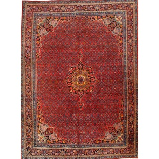 "Pasargad Antique Persian Bidjar Hand-Knotted Rug - 8'9"" X 12' For Sale"