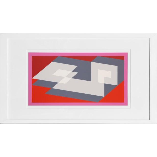 Josef Albers Josef Albers - Portfolio 1, Folder 14, Image 1 Framed Silkscreen For Sale - Image 4 of 4