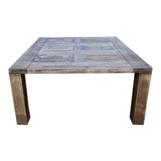 Darvo Reclaimed Pine Wood Wine Crates Rustic Coffee Table For Sale