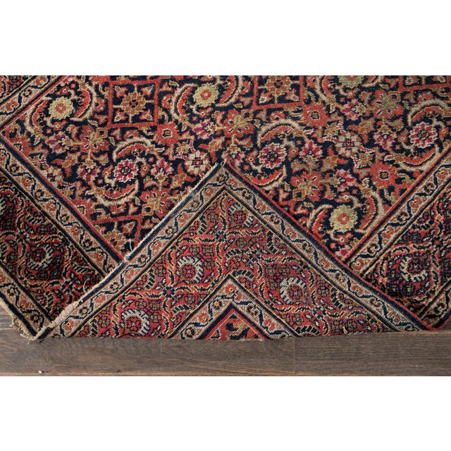 Traditional Vintage Persian Wool Rug 3'10'' X 6'4'' For Sale - Image 3 of 11