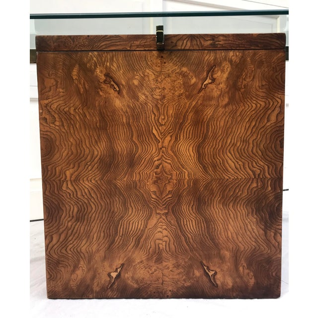 Brown Vintage Lane Burl Wood Console Table For Sale - Image 8 of 12