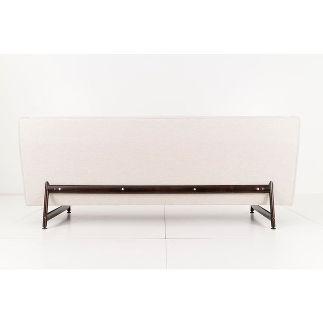 George Kasparian Modern Wing Back Sofa by Kasparian Brothers For Sale - Image 4 of 10