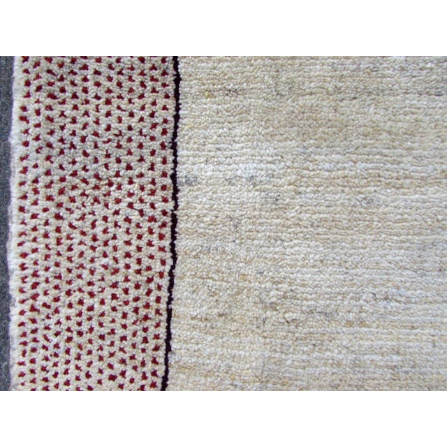 Textile 1970s, Handmade Vintage Persian Gabbeh Rug 3.5' X 4.11' For Sale - Image 7 of 11