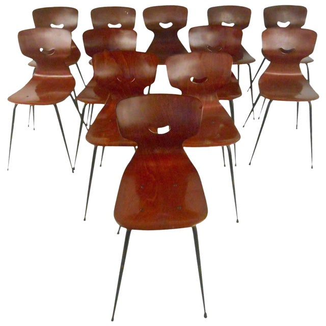 Adam Stegner for Pagholz Flötotto Sculpted Chairs - Set of 6 For Sale