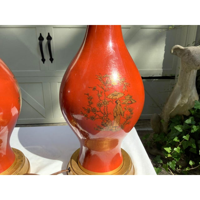 Frederick Cooper Chinoiserie Lamps, a Pair For Sale - Image 10 of 13