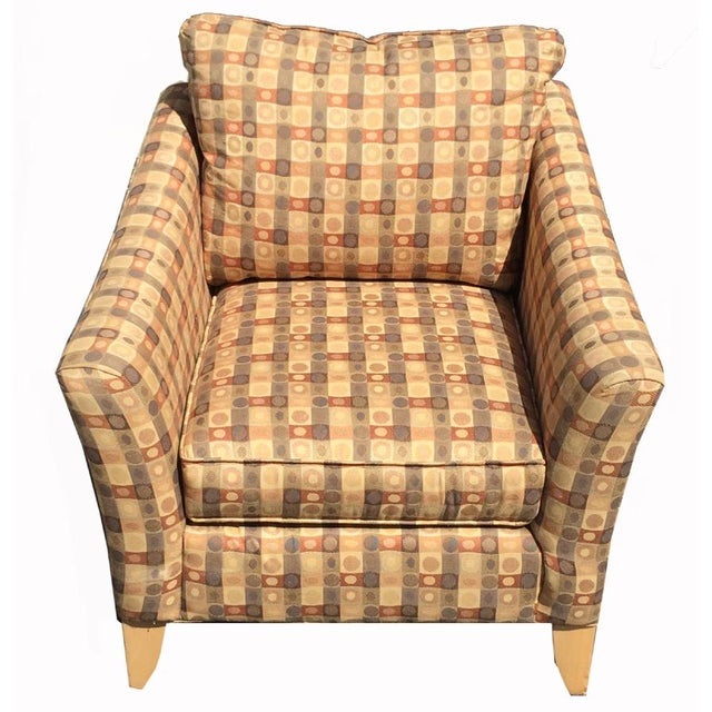 Beige & Brown Craft Master Club Chair - Image 2 of 6