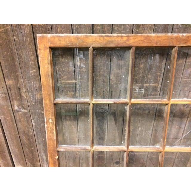 Vintage 24 Pane Wood Window - Image 6 of 11