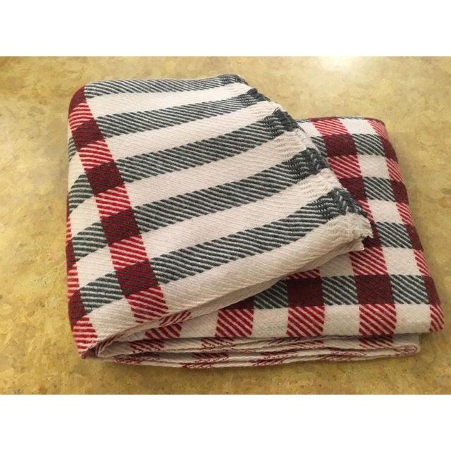 Black & Red Plaid Cashmere Blanket - Image 5 of 8