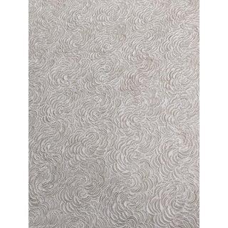 Floral Swirls Latte Cream Rosette Relief Textured Wallpaper For Sale