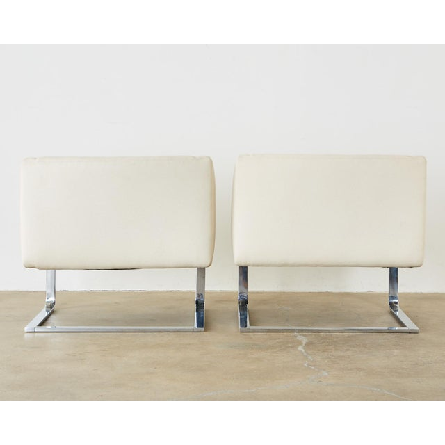 Selig Mid-Century Modern Cantilever Lounge Chairs - a Pair For Sale - Image 12 of 13