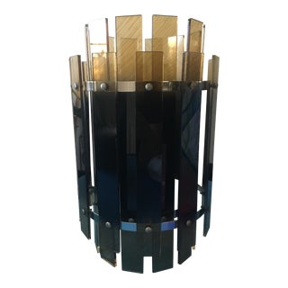 Modern Lucite and Chrome Lamp Shade For Sale