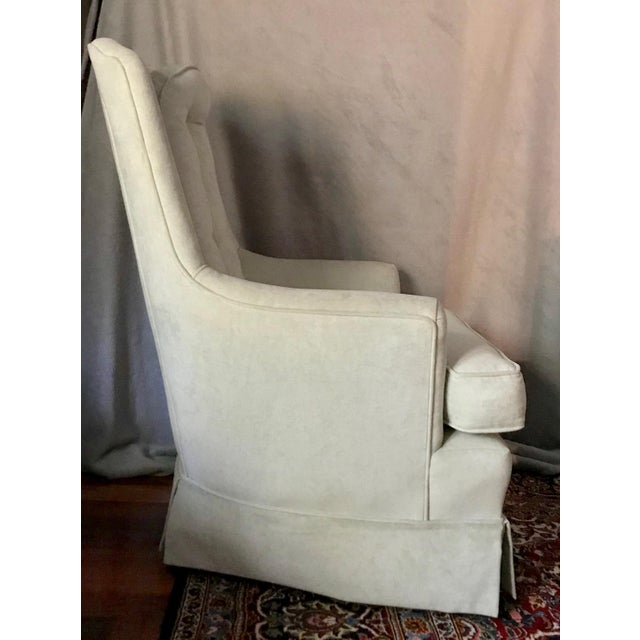 Pale Green Skirted Chairs - A Pair - Image 4 of 4