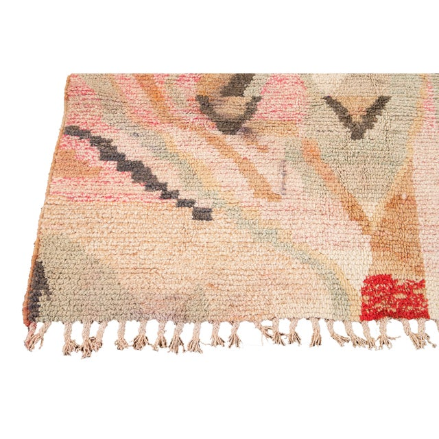 1960s Vintage Azilal Moroccan Wool Rug For Sale - Image 5 of 13