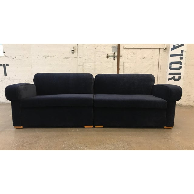 Art Deco Royal Blue Sofa Sectional