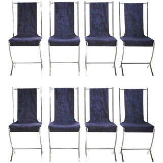 Set of Eight Chairs by Pierre Cardin for Maison Jansen, 1970s For Sale