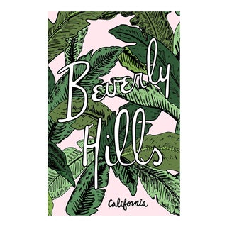"""Beverly Hills Palm Illustration"" 48x30 Original Framed Illustration For Sale"