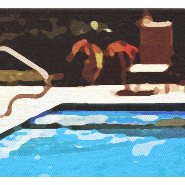 """Swimming Pool"" Acrylic Painting by Michael Giliberti - Image 8 of 10"