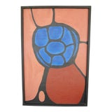 Image of Vintage 1960's Abstract Oil on Canvas Painting For Sale