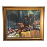 Image of Mid-Century Watercolor Landscape Painting For Sale