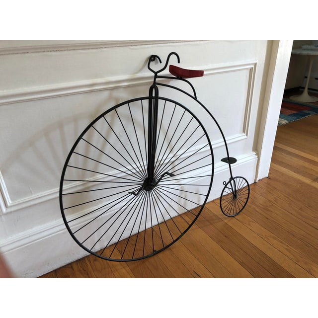 "Curtis Jere bicycle ""Highwheeler"" table or wall sculpture. This art can be mounted to the wall or can stand on a table...."
