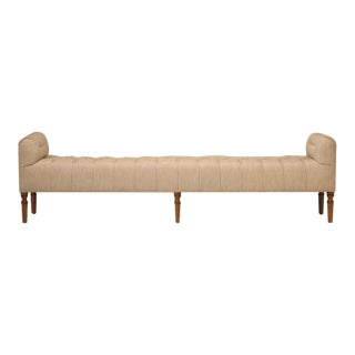 Button Tufted Old Plank Bench