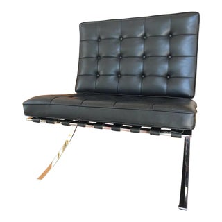 Knoll Mies Van Der Rohe Black Leather Barcelona Chair