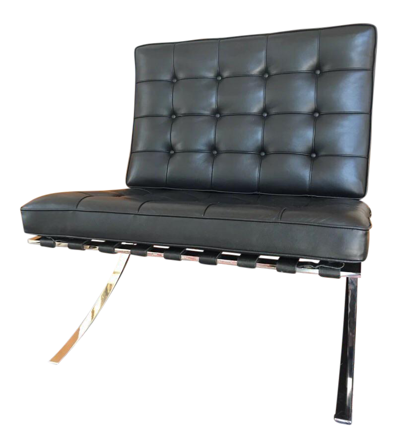 Good Knoll Mies Van Der Rohe Black Leather Barcelona Chair