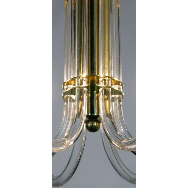 Peter Hamburger Brass & Acrylic Six-Arm Chandelier - Image 5 of 7