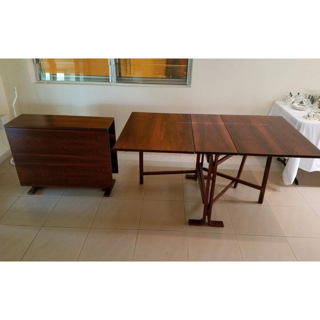 Auburn 1970s Scandinavian Westnofa Rosewood Drop Leaf Banquet Dining Tables - a Pair For Sale - Image 8 of 10