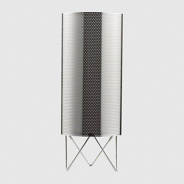 Mediterranean Mid-Century Modern Barba Corsini Black Aluminum 'H20' Table Lamp For Sale - Image 3 of 5