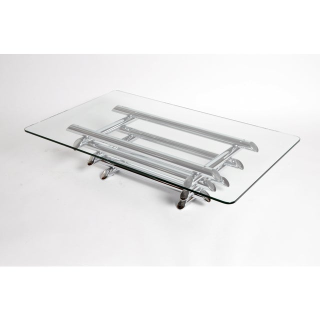 Mid-Century Coffee Table with Original Glass For Sale In Chicago - Image 6 of 10